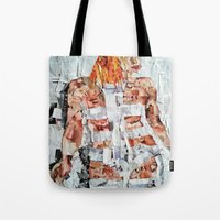 fifth element Tote Bags featuring LEELOO THE FIFTH ELEMENT by JANUARY FROST