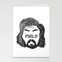 juventus Stationery Cards featuring Pirlo B&W by wearwolves