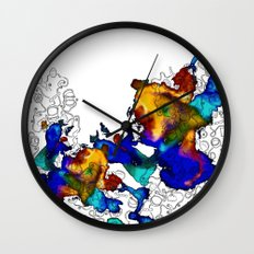 Pasta Illustration Wall Clock
