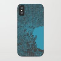 melbourne iPhone & iPod Cases featuring Melbourne map by Map Map Maps