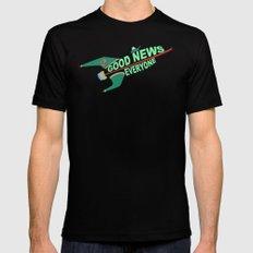 Good News Everyone Mens Fitted Tee MEDIUM Black
