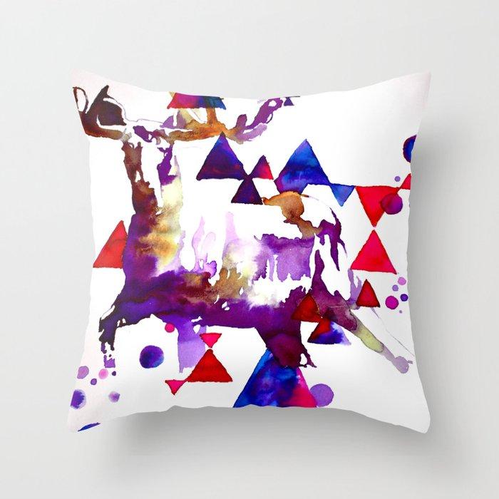 Too Moose Throw Pillow