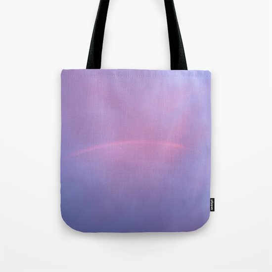 A Rainbow In A Sky Colored By The Sunset Tote Bag
