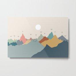 Cat Landscape 115: Himeowlaya Metal Print