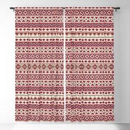 Aztec Essence IIb Ptn Red Crm Grays Sand Blackout Curtain