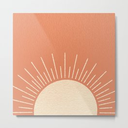 Sunrise pink Metal Print