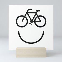Bike face, bicycle smiley Mini Art Print