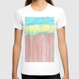 Rain in Rainbow forest. Abstract T-shirt
