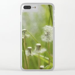 Three-Quarters of a Wish Left painterly Clear iPhone Case