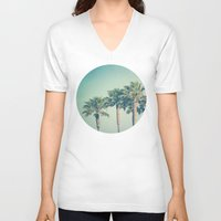 palms V-neck T-shirts featuring Palms by Laura Ruth