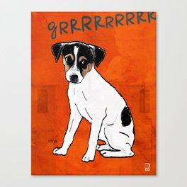 Dog: Rat Terrier Canvas Print