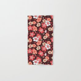 Coral flower pattern Hand & Bath Towel