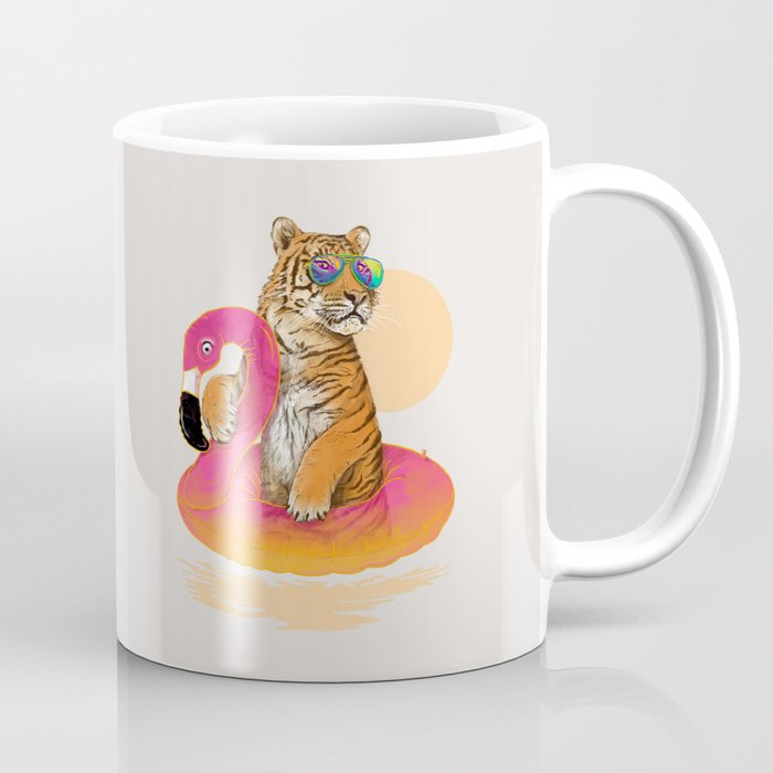Chillin (Flamingo Tiger) Coffee Mug