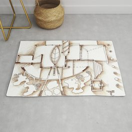 wall installation Rug