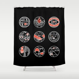 blurry icons II Shower Curtain