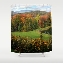 Warren Vermont Foliage Shower Curtain