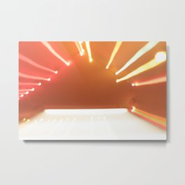 beaming Metal Print