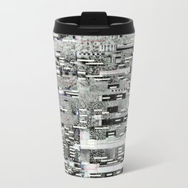 Highly Resolved Ghost (P/D3 Glitch Collage Studies) Metal Travel Mug