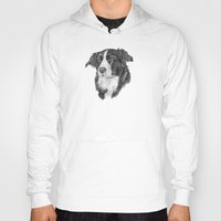 border collie Hoodies featuring Border collie 2 by Doggyshop