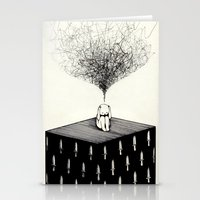 anxiety Stationery Cards featuring Anxiety by Felicia Chiao