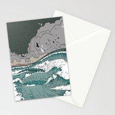 Stormy seas Stationery Cards