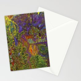 Flower Garden at Midday by Pierre Bonnard Stationery Cards