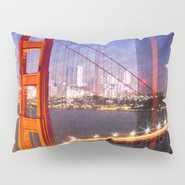 City Art Golden Gate Bridge Composing Pillow Sham