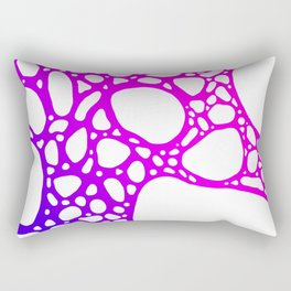 Purple Bubbles Rectangular Pillow