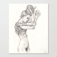 sketch Canvas Prints featuring Sketch by Dylan Chudzynski
