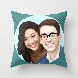 Jenna Ushkowitz and Kevin Mchale Throw Pillow