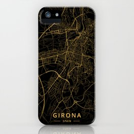 Girona, Spain - Gold iPhone Case
