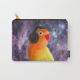 Bird Listening to Music in Outer Space Carry-All Pouch