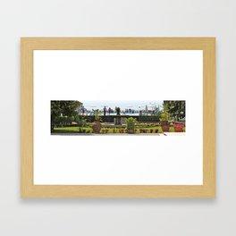 Waterside: Bardolino, Italy. Framed Art Print
