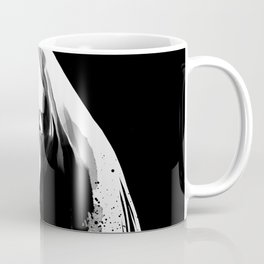 Beauty portrait, Woman slave collar, Nude art, Black and white, Fashion painting Coffee Mug