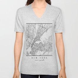 New York New York Street Map Unisex V-Neck