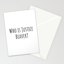 Justice Beaver Stationery Cards