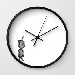 The Little Robot Man Wall Clock