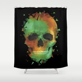 Geometry Reconstruction Skull Shower Curtain
