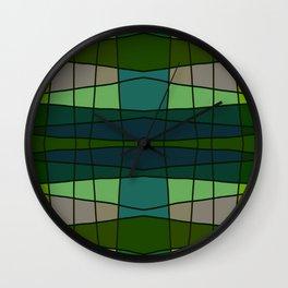 Green Pattern Turtle Wall Clock