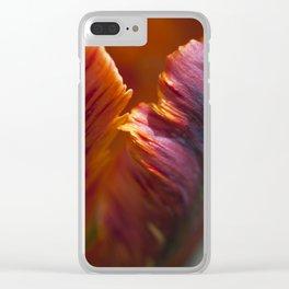 Parrot Tulip Petal Clear iPhone Case