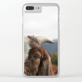 Look who's complaining, funny goat photo Clear iPhone Case