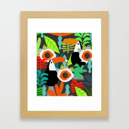 Tropical vibe with toucans Framed Art Print