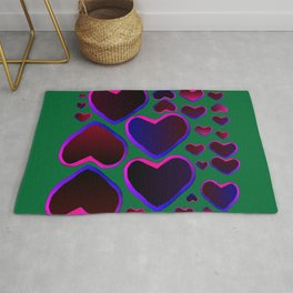 Heart in the countryside Rug