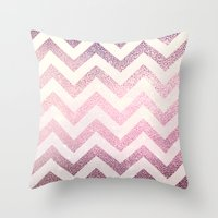 chevron Throw Pillows featuring CHEVRoN by Monika Strigel