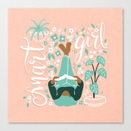 Smart Girl v3 Canvas Print