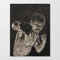 pac man Canvas Prints featuring Pac-Man by Navarrart