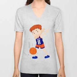Dab Dabbing Basketbal Funny Unisex V-Neck