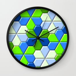 Blues & Greens Wall Clock