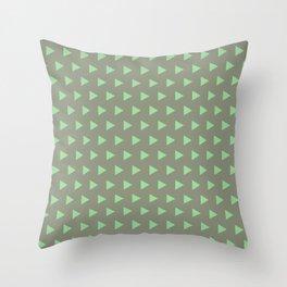 Green Triangle Throw Pillow