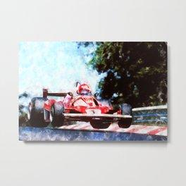 Niki Lauda, Nurburgring Metal Print